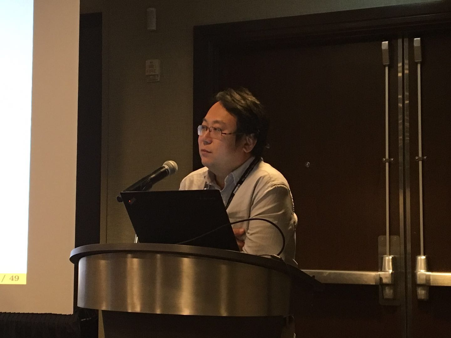photo of Richong Zhang speaking at W3C Track
