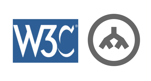 logos of W3C and DOM